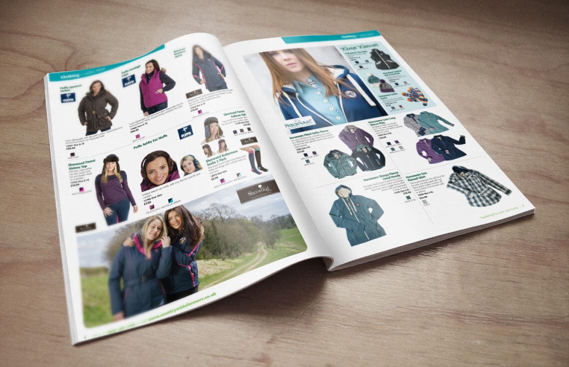 in catalogue thời trang