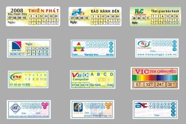 In tem bảo hành nhanh
